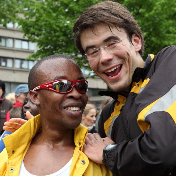 Henry Wanyoike und Niels Bubel
