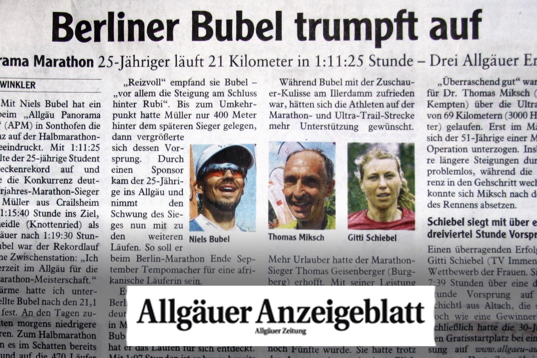Das Allgäuer Anzeigeblatt schreibt: Berliner Bubel trumpft auf