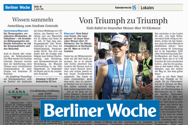 Berliner Woche - Von Triumph zu Triumph - Niels Bubel ist Deutscher Meister über 50 Kilometer