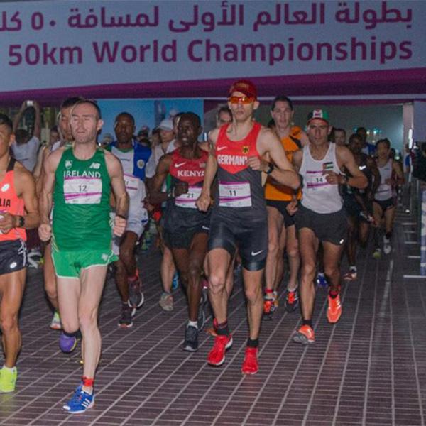 Niels Bubel bei seiner WM-Premiere über 50km in Doha (Quatar)